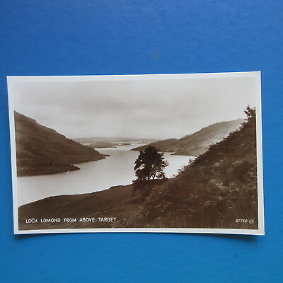 Old Postcard of Loch Lomond from above Tarbet.