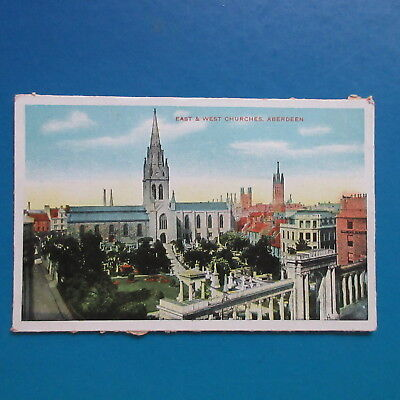 Old Postcard of East and West Churches, Aberdeen.