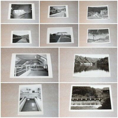 Lot 10 Photos 10 x 15 cm Vintage Nadrin Barrage de Nisramont