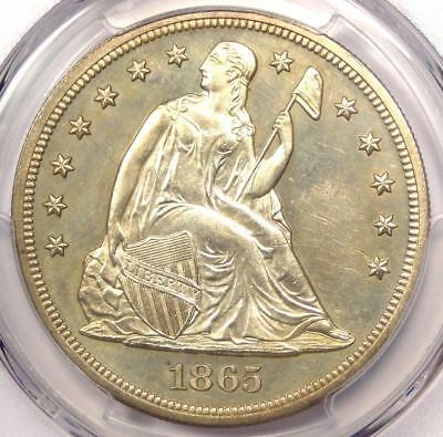 1865 Proof Seated Liberty Silver Dollar $1 - PCGS Proof Details (PR/PF) - Rare!