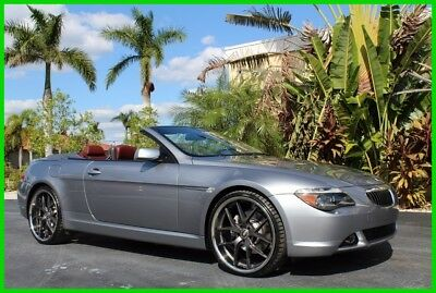 2004 BMW 6-Series Ci 2004 BMW 645CI CONVERTIBLE AUTOMATIC RED LEATHER NAVIGATION SPORT 22 INCH WHEELS
