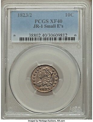 1823/2 10c PCGS XF40 JR-1 Small E's Capped Bust Dime (The Price Is Right!!)