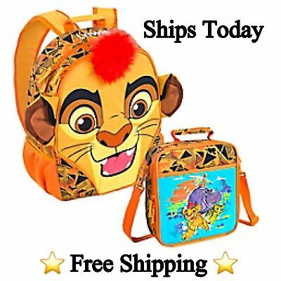 "⭐️NEW⭐️ Disney Store The Lion Guard Kion 16"" School Back Pack & Lunch Tote"