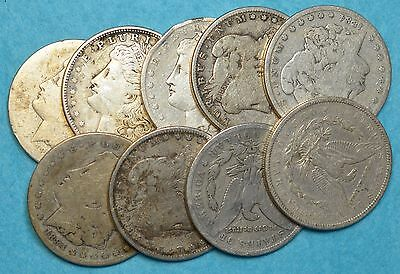 One Morgan Silver Dollar 90% Silver Junk Cull Circulated More Available Fast S&h