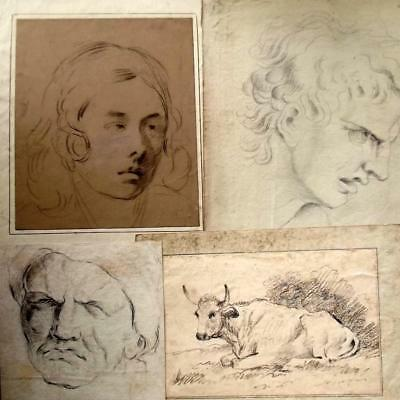 FOUR Antique OLD MASTER Drawings- Dealers Please Look- 18th & 19th Century