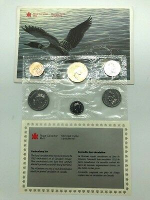 1993 Royal Canadian Mint Uncirculated Coin Set with COA