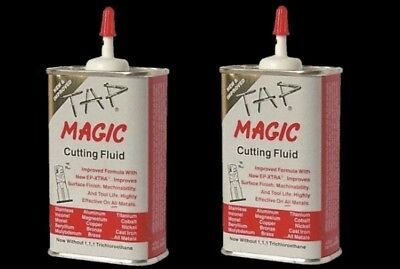 2-pack  Tap Magic Cutting Oil  4 oz. Spout Top Can  Drilling Tapping Threading