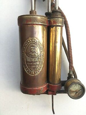 Hattersley and Davidson 3 three cylinder Multistage Foot Pump - 'work of art'
