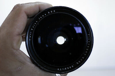 Wide angle Carl Zeiss Flektogon f/4 50  with case and Hood