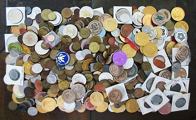 9+ POUNDS of MOSTLY OLD/NEW TOKENS & OTHER MISC. > SEE IMAGES > NO RESERVE