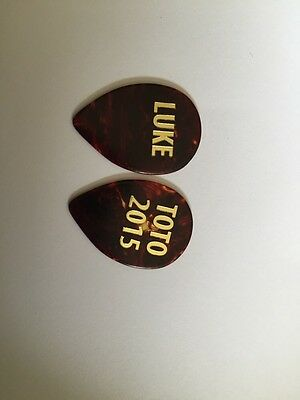TOTO TOUR 2015  2 Guitar pics Plectrums Luke Lukather Greyhound Charity