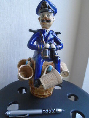 Vintage Sailor Character Decanter, Ceramic, Not Toby Jug