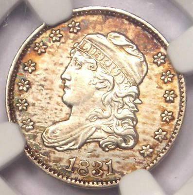 1831 Capped Bust Half Dime H10C - NGC Uncirculated Details - Rare MS BU Coin!