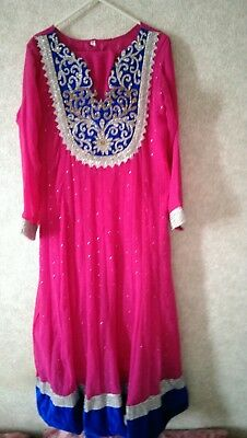 Indian BOLLYWOOD ready made Churidhar style long dresse from DIYA size Large.