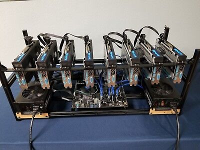 225 MH/s Ethereum Mining Rig, 8 GPU - Plug and Play + Enhanced Stability- NEW