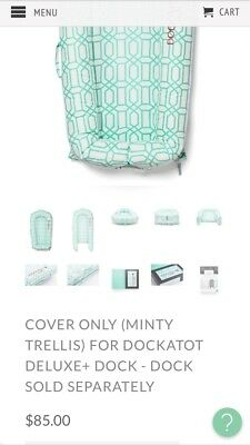 Minty Trellis print breathable hypoallergenic DocKAtot (COVER ONLY )
