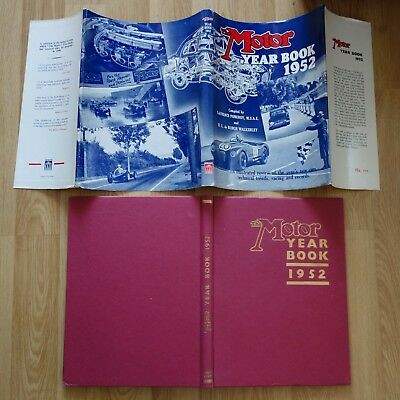 1952 The Motor YEAR BOOK  F1 Racing, Results, Road Cars