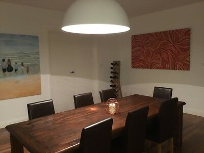 Large / Long / Huge 2.6 x 1.1 metre Solid Dining Table, seats 8-12, No Chairs