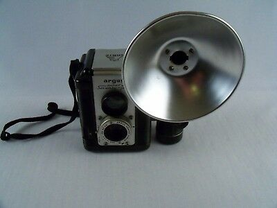 Vintage Argus Super 75 With Flash Carry Strap No Bulbs