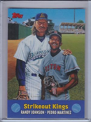 RANDY JOHNSON/PEDRO MARTINEZ 2000 Topps Limited Edition Combos #TC7 (B9998)