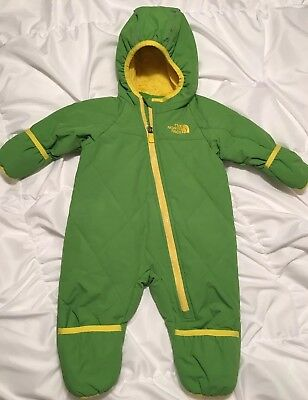 North Face Infant unisex Hooded Snowsuit 3-6 Mo