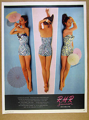 1955 Rose Marie Reid RMR Junior Swimsuits 3 Styles photo vintage print Ad