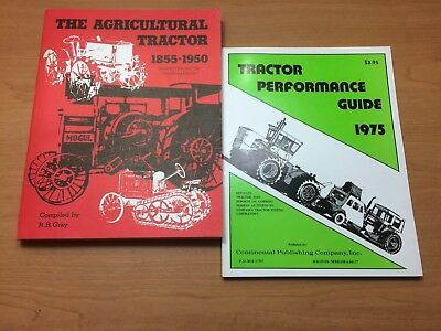Two Tractor Books Performance 1975 & Ag Tractor 1855-1950