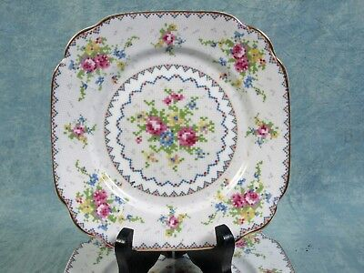 Royal Albert Petit Point Bone China Bread & Butter Dessert Plate Vintage 1930's
