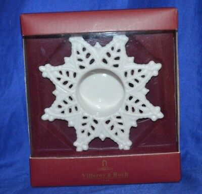 Villeroy & Boch  Christmas Candle Holder 'Snow Crystal' New, in box -