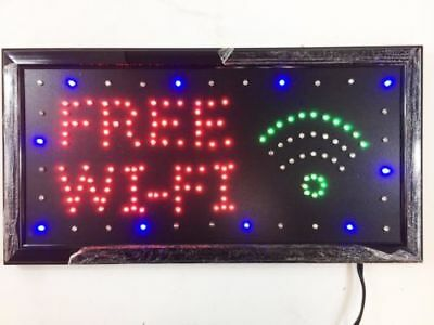 New Bright Neon LED Light 'FREE WIFI' Sign For Business Store Shop High Quality