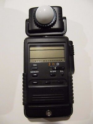 EX+ SEKONIC L-718 Digi-Master Ambient/Flash Light Meter with case, manual