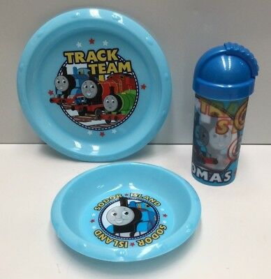 Thomas The Tank Engines Kids Dinner Plate , Bowl , Drink Bottle