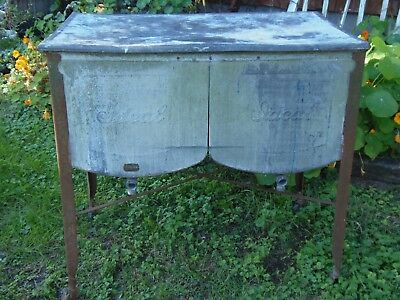 Vintage Galvanized Wash Tub with Lid 1931 Ideal Double Tubs