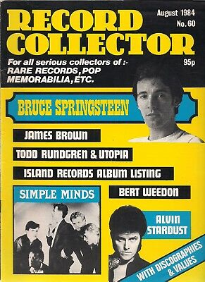 Record Collector  #60  August 1984   Bruce Springsteen, Simple Minds,