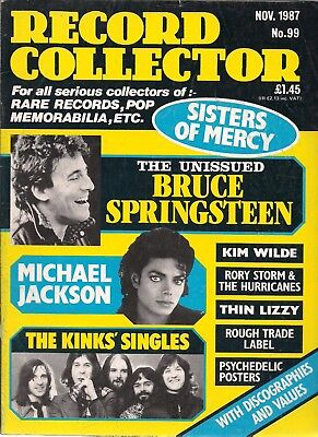 Record Collector  #99  November 1987   KINKS, Michael jackson, Brice Springsteen