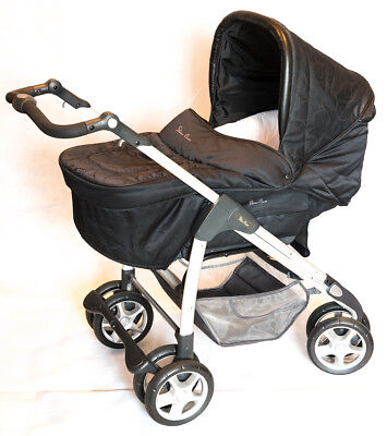 Silver Cross pram 3-in-1 stroller and cot with rocker for newborns to toddlers