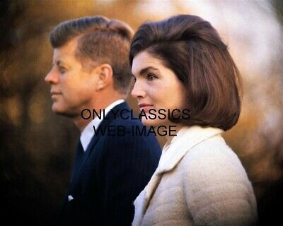 1963 President John F. Kennedy & Beautiful First Lady Jackie 8X10 Photo Camelot