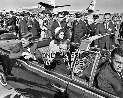 John F. Kennedy, Jackie-Limousine At Love Field Fateful Day In Dallas 8X10 Photo