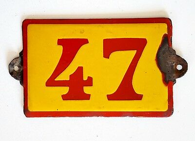 Antique Vintage French Enamel Porcelain Door House Gate Number Sign Plate 47