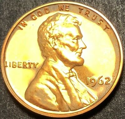 1962 Proof Lincoln Cent 1C Penny From Mint Package (F347)