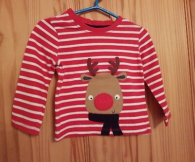 Christmas Baby boy top with reindeer , size 9-12 months