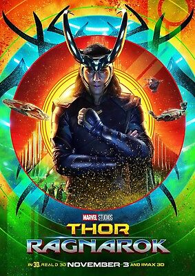 Art Print Poster / Canvas Thor Ragnarok Movie Tom Hiddleston Loki 2017