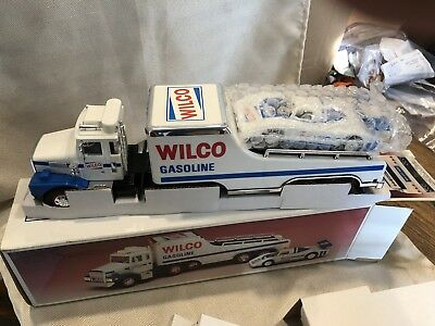 Wilco 1989 Carrier Truck & Racer Toy MIB w/ Hess Tires (RARE)