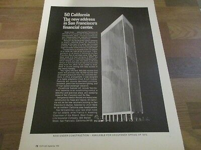 San Francisco Financial Center  - 50 California 1970 Print Ad