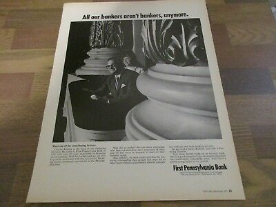 First Pennsylvania Bank - Charles Rumble - Philadelphia  1970 Print Ad