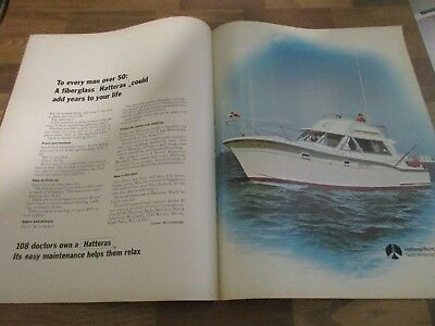 Hatteras - 108 Doctors Own Boat - 2-Page  1970 Print Ad