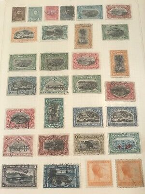 Approximate 115 Early Belgium Congo Stamps Collection Album Pages