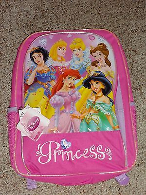Disney Princess Backpack Book Bag Rare Design NWT