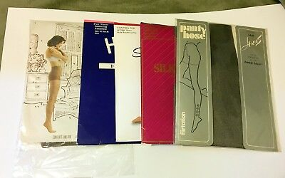 Lot of 5, Pantyhose, Stockings, Vintage Brands, Product, Hose, Nylons, Variety