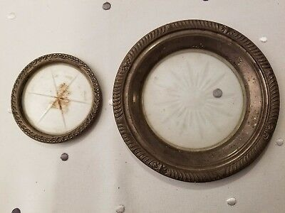 Two Sterling And Crystal Coasters
